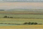 28 'Sussex Downs near Beachy Head study I' pastel 13 x 28 cm 2000 (Private collection)
