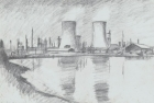 19-study-for-etching-river-tees-at-middlesbrough-graphite-40-x-58-cm-1988