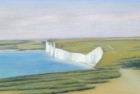 22 'Seven Sisters from Belle Tout II' pastel 15 x 49 cm 2009
