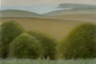 24 'Sussex Downs with Seaford Head' pastel 17.5 x 23 cm 2001 (Private collection)