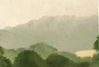 OL030 'Chancton hillside' oil on canvas board 18 x 16 cm 1978 (Private collection)
