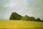 OL035 'Wiston landscape study' oil on canvas 24 x 36 cm 1979