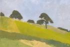 OL039 'Durham landscape' oil on canvas 21 x 28 cm 1979