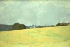 OL043 'Wiston field' oil on canvas 60 x 90 cm 1980 (Private collection)