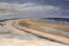 OL093 'Druridge Bay study' acrylic on paper 76 x 168 cm 1987