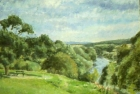 OL098 'River Tees at Middleton one Row' oil on canvas 30 x 36 cm 1988 (Private collection)