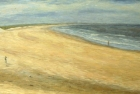 OL107 'Druridge Bay the proposed site for a nuclear power station' oil on canvas 92 x 213 cm 1989