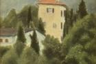 OL113 'Bosco Luganese hillside' oil on canvas board 12 x 18 cm 1991 (Private collection)
