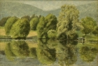 OL116 'Gattikon Wier, Zurich' oil on canvas 16 x 24 cm oil on canvas 1991 (Private collection)