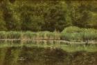 OL117 'Gattikon Wier study' oil on canvas 12 x 18 cm 1991 (Private collection)
