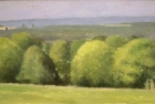 OL132 'Chancton landscape study' oil on canvas 14 x 18 cm 1998 (Private collection)