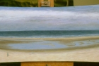 OL134 'Druridge Bay Panorama detail) oil on canvas 46 x 183 cm 1999