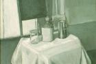 OSL010 'Monochrome still life' oil on canvas 1980