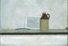 OSL013 'Cider jar and plate' oil on canvas 20 x 30 cm 1980 (Private collection)