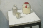 OSL017 'Grey still life' oil on canvas 42 x 44 cm 1980