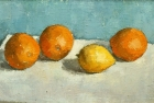 OSL025 'Oranges and Lemon' oil on canvas 18 x 30 cm 1983 (Private collection)
