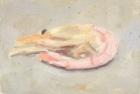 OSL050 'Prawn' oil on canvas board 10 x 15 cm 1985