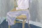 OSL053 'Chair study' oil on canvas 30 x 20 cm1988