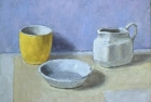 OSL064 'Blue and yellow still life' oil on canvas 16 x 20 cm 1991 (Private collection)