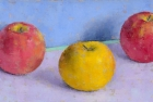 OSL113 '3 Apples' oil on canvas 15 x 30 cm 1998