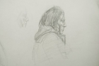 29 'Portrait exercise' Slade School' pencil 30 x 50 cm 1978