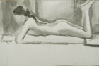 9 'Wendy, Slade life study' ink wash 20 x 35 cm 1978