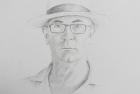 2 'Self Portrait in Panama Hat' pencil 60 x 40 cm 2017