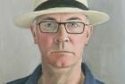 3 'Self portrait in Panama hat' 40 x 32 cm 2017