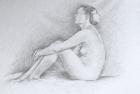 7 'Emma tondo study' pencil 40 x 35 cm 2016