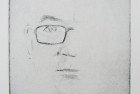 1 E56 'Self Portrait study' drypoint' 11 x 10 cm 2017