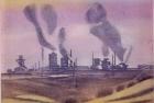 16 E33 'British Steel' 3 plate colour etching 17 x 20 cm 1990
