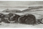 6 E51 'Belle Tout and Seaford Head' etching aquatint, plate size 10 x 22.5 cm 2013