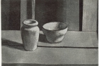 29 E06 '2 pots' etching and aquatint, plate 13 x 18 cm 1983