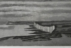 4 E52 'Seven Sisters from Belle Tout' etching and aquatint, plate 10 x 22.5 cm 2017