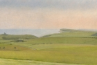 OL149 -sussex-downs-from-beachy-head-oil-on-canvas-30-x-60-cm-2008
