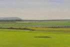 1 OL207 'Firle Beacon from Beachy Head' oil on canvas 25 x 60 cm 2017