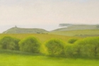 12 OL187 'Belle Tout and Seaford Head, study' oil on canvas 17 x 40 cm 2013
