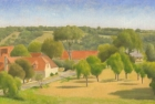 OL141 'La Peyrade near Cahors' oil on canvas 17 x 35 cm 2005