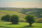 25 OL148 Sussex Downs near Willingdon' oil on canvas 91 x 121 cm 2008