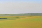 11 OL192 'Willingdon Hill from Beachy Head' oil on canvas 30 x 70 cm 2014