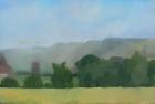 OL023 'Downs study' oil on canvas board 28 x 30 cm 1978
