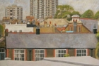 OL058 'Islington Landscape' oil on canvas 68 x 84 cm 1982 (Exhibited in the 'Spirit of London' 1983)