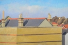 OL071 'East Finchley rooftops' oil on canvas 35 x 55 cm 1984