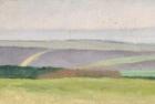 OL076 'Waldridge Fell, study' oil on canvas 11 x 22 cm 1986