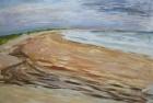OL089 'Druridge Bay study' acrylic on paper 76 x 120 cm 1986