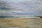 OL090 'Druridge Bay study' acrylic on paper 76 x 120 cm 1987