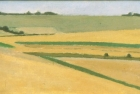 OL130 'Downs near Cissbury, study' oil on canvas board 11 x 24 cm 1998 (Private collection)