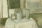 OSL009 'Monochrome still life' oil on board 35 x 40 cm 1980