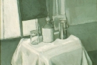 OSL010 'Monochrome still life' oil on canvas 1980