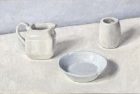 OSL072 'White still life III' oil on canvas board 17 x 25 cm 1991